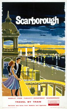 Scarborough, North Yorkshire Railway Poster