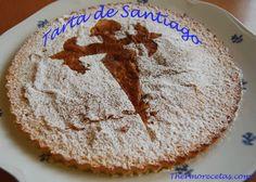 Descubre la receta de la tarta de Santiago, una tarta muy rápida de hacer y que viene genial con el café. En poco más de 20 minutos está lista para comer. Croissants, Sin Gluten, Pie, Bread, Cookies, Chocolate, Coffee, Desserts, Food