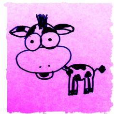 Cow #cow #paint #pink