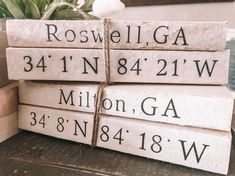 Stamped Books Farmhouse Decor Home Decor Personalized Farmhouse Books, Vintage Farmhouse, Farmhouse Decor, Modern Farmhouse, Farmhouse Style, Wooden Books, Painted Books, Notebook Diy, Modern Vintage Decor