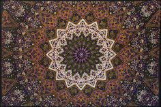 3D - Purple India Star - Tapestry 90 in. x 60 in.