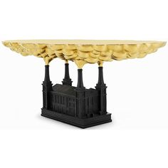 Cast bronze factory table from the Studio Job designed furniture collection 'Robber Baron'.