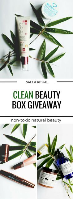 Clean Beauty Box Essentials Giveaway ($125 value)! Ends midnight Jan 21, 2017.