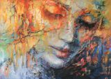 © Artist: Evelyn Hamilton, Sweet memories x Abstract Painters, Abstract Art, Hamilton Painting, Fantasy Portraits, Zen Art, Abstract Portrait, Human Art, Contemporary Artwork, Sweet Memories