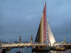 The Twin Sails Bridge in Poole Dorset UK:  http://dentistinpoole.net