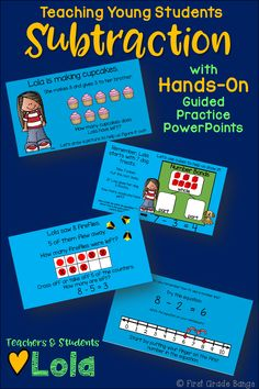 **Common Core Aligned!** This bundle includes 10 interactive PowerPoint guided practice lessons to keep students engaged and learning! These lessons use number lines, number bond mats, cubes, and dry erase boards to work hands-on along with Lola. Kids love the characters and familiar scenarios, and teachers love how all the work is done for them. Just play each lesson as a slideshow and encourage student participation as you click through the animations! $