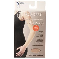 8aa20d2136 Truform Compression Arm Sleeve 20-30 mmHg with Silicone Dot Top - 3326
