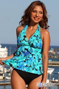 UjENA+Swimwear+Turquoise+Bay+Tankini.