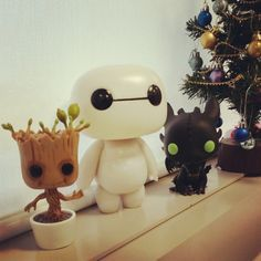 groot, baymax and toothless