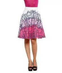 99Hunts Multi Cotton A-Line Skirt