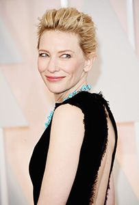 Cate Blanchett, blonde mused hairstyle updo- shop and how to