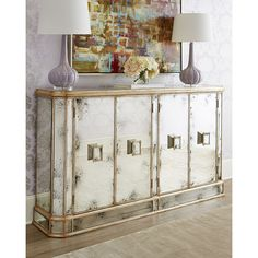 John-Richard Collection Delancey Sideboard (93,865 MXN) ❤ liked on Polyvore featuring home, furniture, storage & shelves, sideboards, black sideboards, painted buffet, black furniture, handpainted furniture and black buffet