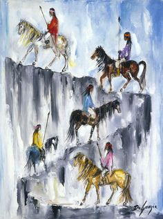 Southwestern artist Ted DeGrazia's long held fascination with the Apache tribes and their cultural traditions can be seen in this selection of work spanning forty years of his career. The daily life of the Apache Indians and the elaborate costumes and ceremonies of the Apache Crown Dancers, Devil Dancers, and Eagle Dancers were recurring sources of inspiration for DeGrazia. Happy Throwback Thursday! #DeGrazia #AZ #Desert #Apache #Superstition #Mountains #Museum #Paintings #Exhibitions…