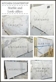 Kitchen countertops--YES! Granite that looks like Carrera marble!
