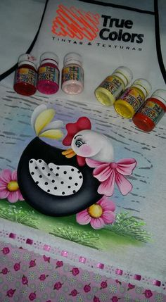 Fall Crafts, Diy And Crafts, Arts And Crafts, Tole Painting, Fabric Painting, Cartoon Chicken, Chicken Crafts, Country Paintings, Felt Toys