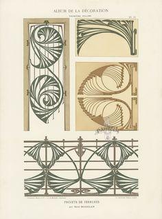 A. Calavas, ed., Album de la décoration. v. 3. Paris: Librairie des arts décoratifs, 1900, pl. 23