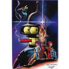 Futurama Star Wars Spoof Signed Tribute Print
