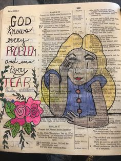 Colored pencil and ink on vintage page by Christina Colwell copyright 2010 Scripture Art, Bible Art, Bible Scriptures, Bible Quotes, Found Poem, Book Journal, Art Journals, Journal Ideas, Altered Books Pages