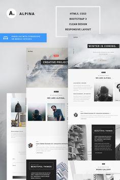 Alpina - Creative Project Landing Page Website Template Big Screenshot