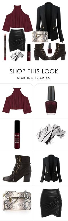 """Desperate Booties Call for Desperate Measures"" by dora-upani ❤ liked on Polyvore featuring W118 by Walter Baker, OPI, NYX, Bobbi Brown Cosmetics, Qupid, Topshop and MAKE UP FOR EVER"