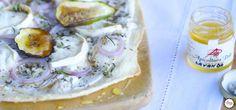 Flammkuchen mit Ziegenkäse und Lavendel-Honig   my cooking love affair