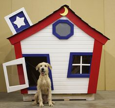 """Perfect for a dog with a silly and outgoing personality, Fun House by Von Gillern Construction is not your typical dog house. Get your $5 raffle ticket for your chance to win this playful house for your pet.     SPCA of Texas """"Home for the Holidays"""" is featured at NorthPark Center now until Nov. 25th. Thanks to NARI- Greater Dallas for taking part in this event and helping raise money for the SPCA of Texas."""