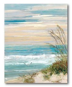 Maillot de bain : Look what I found on Beach Scene Wrapped Canvas This Beach Scene Wrapped Canvas by Courtside Market is perfect! Artissimo Designs Beach At Dusk Hand Embellished Canvas - Canvas Wall Decor Shop for Portfolio Canvas Decor Beach at Dusk Can Painting Prints, Painting & Drawing, 3 Canvas Painting Ideas, Beach Drawing, Acrylic Paint On Canvas, Acylic Painting Ideas, Acrylic Painting For Beginners, Pallet Painting, Beginner Painting