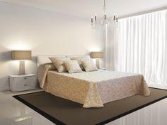 Los tonos claros ayudarán a dotar tu habitación principal de luz y tranquilidad.