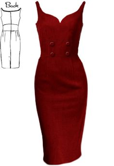 50s Rockabilly Wiggle Dress by Amber Middaugh --Save 37% at Chicstar.com coupon: AMBER37 #Retro #Vintage # Rockabilly