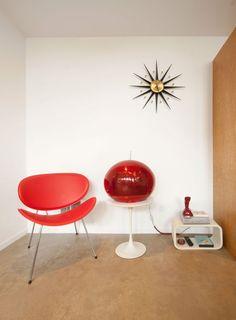 Eames chair in a Seattle backyard studio