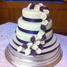 Cascading calla lily cake from this weekend