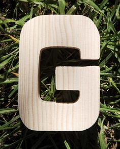 Wood Letters G Pine 4 inch Letters