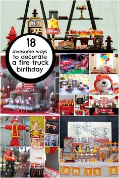 fireman fire fighter birthday party decoration ideas www.spaceshipsandlaserbeams.com