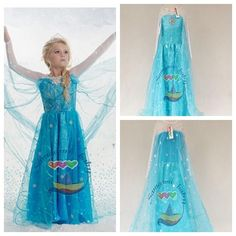 Elsa Fever Dress Girl Frozen Cosplay Costume Kids Elsa Dress Girls Princess Lace Snowflake Children Party Dress in Stock Online with $8.26/Piece on The_one's Store | DHgate.com