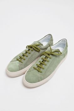 Common Projects Achilles Vintage Suede Green