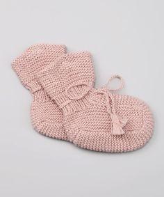 Poppy Rose Pink Merino Booties