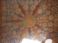 Cordwood wall in British Columbia. www.daycreek.com   Mortar mix possibilities:  (lime makes the mix plastic)  Lime putty mortar  dates back to 400 BC: Pure lime and sand; or 9 parts sand; 3 soaked sawdust; 2 Portland; and 3 hydrated lime - Papercrete (paper enhanced mortar) - Cob mix (1 part clay, 4 parts sand mixed with straw and more...) -