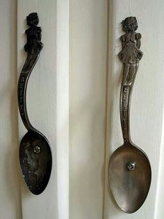 Old spoon cabinet handles