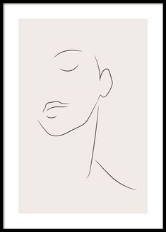 Simple Lines Poster Simple Lines, Simple Art, Poster 70x100, Art Abstrait Ligne, Modern Gallery Wall, Face Lines, Face Line Drawing, Abstract Line Art, Kunst Poster