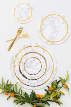 Decorative DIY Marble Plates | Sugar & Cloth