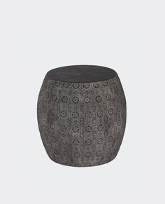 Beautiful lace cut metal stool that also doubles as a handy side table. Handmade using traditional techniques with a contemporary Papaya feel. Homewares Online, Metal Stool, Sydney Australia, Outdoor Furniture, Outdoor Decor, Simply Beautiful, Ottoman, Traditional, Contemporary