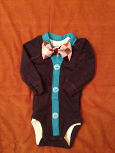 William -Baby Boy Clothes – Newborn  Outfit - Infant Bowtie Cardigan- Photo Prop- Shower Gift- Preppy- Ring Bearer-Christol and Company on Etsy, $31.99