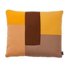 Normann C Brick pute gul Patchwork Designs, Danish Modern, Contemporary Furniture, Minimalist Design, Interior Styling, Brick, Cushions, Throw Pillows, Pure Products
