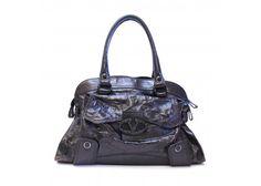 Valentino Brown Textured Leather Shoulder Handbag Purse Bag