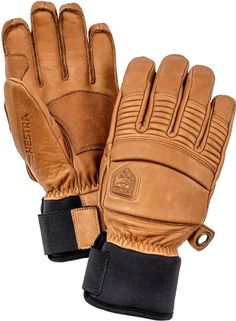 Hestra Mens Ski Gloves: Fall Line Winter Cold Weather Leather Glove - Cork 10 Mens Gloves, Leather Gloves, Insulated Gloves, Snowboard Gloves, Snowboard Apparel, Mens Skis, Knitted Gloves, Hand Warmers, Cowhide Leather