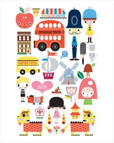 AROUND THE WORLD by Suzy Ultman I really like her stuff!  maybe for the guest room