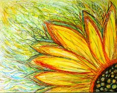 Retro Sunflower and Garden Sunflower by Ejeza on Etsy, $96.00