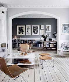 Loving the neutral palette and eye-catching accents in this space! More info here: https://www.instagram.com/p/BCwfHWPHYYE/?taken-by=dotandbo