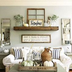 Simple living room wall decor ideas best wall decor for living room large wall decor ideas Artwork For Living Room, Fall Living Room, Living Room Photos, Living Room Decor, Living Rooms, Farmhouse Living Room Furniture, Farmhouse Wall Art, Modern Farmhouse, Farmhouse Decor