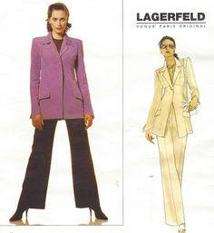 90s Lagerfeld Vogue Paris Original Sewing Pattern by CloesCloset